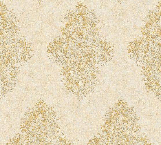 Non-woven wallpaper ornaments classic cream gold AP 35110-5 online kaufen