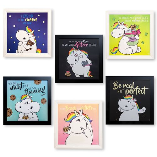 Unicorn Mural Chubby Unicorn Picture 6 Designs 50 x 50cm online kaufen