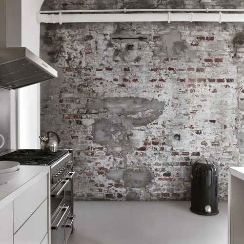Photo Wallpaper Concrete Brick Design Industrial 418cm x 300cm