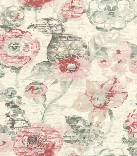 Wallpaper Rasch floral flower used cream beige 803723
