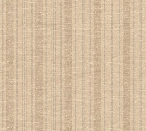Wallpaper stripes brown livingwalls 35185-2