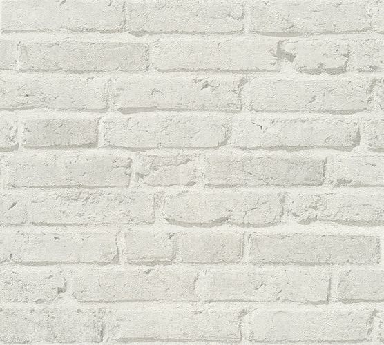 Wallpaper stone wall bricks cream white AS Creation 35581-4 online kaufen