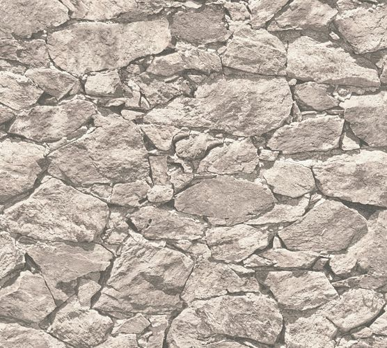 Wallpaper natural stone wall style grey AS Creation 35583-4 online kaufen