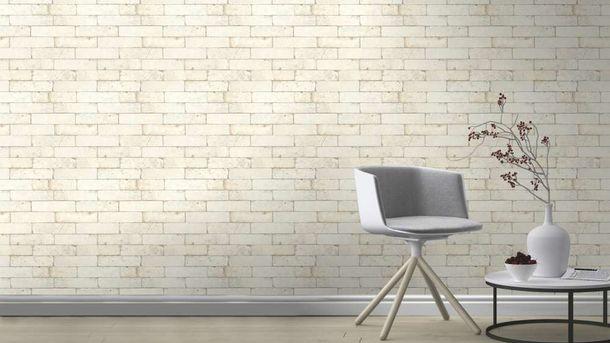 Wallpaper Rasch 3D stone wall design cream 446319  online kaufen