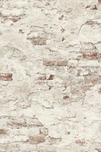 Wallpaper Rasch natural stone design cream white 939309