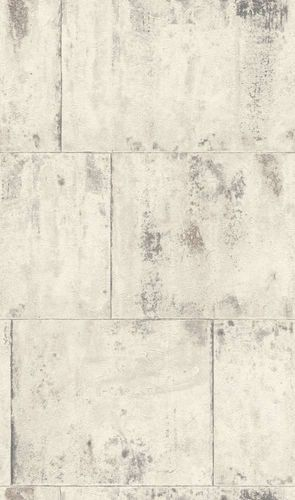 Wallpaper Rasch metal rust patina vintage white grey 939705  online kaufen