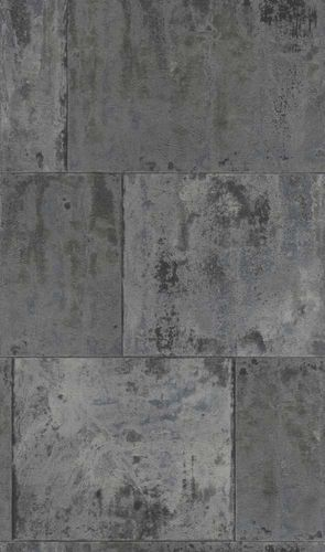 Wallpaper Rasch metal rust patina vintage anthracite 939729  online kaufen