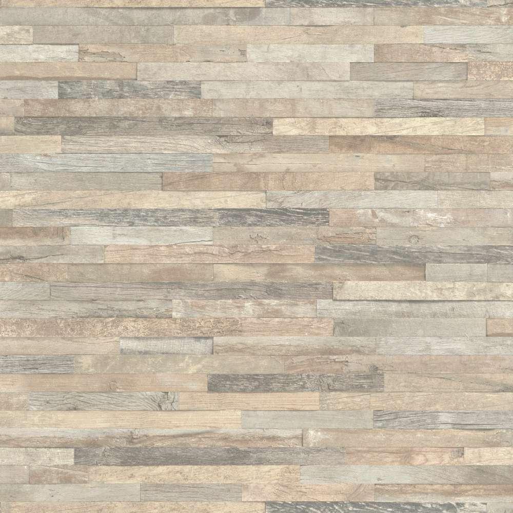 Vliestapete Rasch Holz Optik 3D beige grau 93980 1