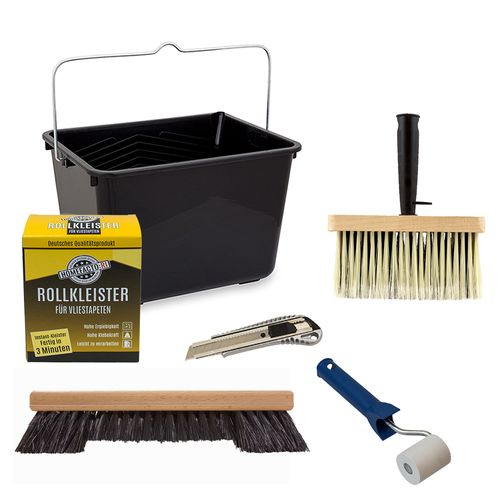 Non-Woven Wallpaper Decorating Set | Paste 200g + Tools
