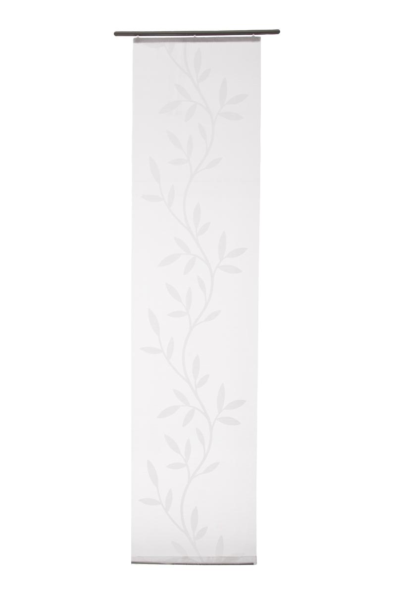 fl chenvorhang transparent olivia grafik wei grau 5045 03. Black Bedroom Furniture Sets. Home Design Ideas