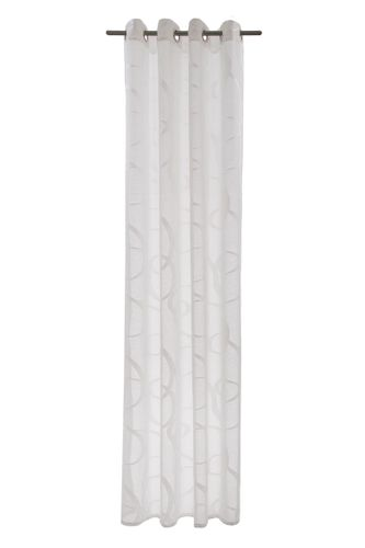 Eyelet Curtain semi-transparent Seth graphic white 5043-05 online kaufen