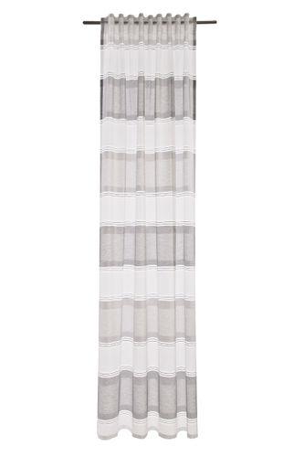Loop Curtain Marley semi-transparent stripes grey silver 5033-08 online kaufen