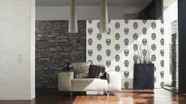 Kids Wallpaper Mandala Skull white black Gloss 35817-1 online kaufen