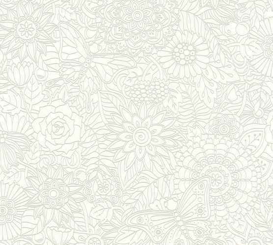 Kids Wallpaper Mandala Flowers white Gloss 35816-1