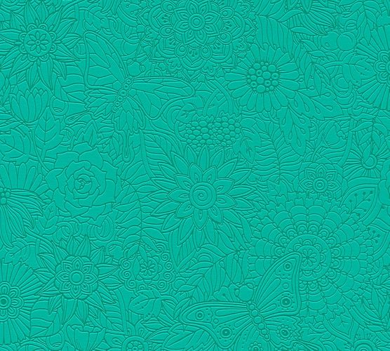 Kids Wallpaper Mandala Flowers green Gloss 35816-3