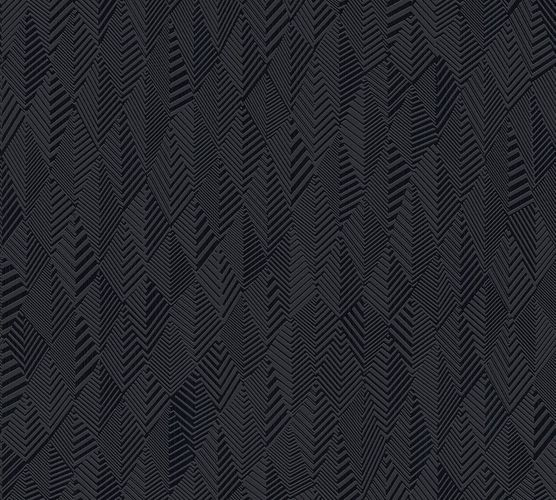 Non-Woven Wallpaper Pyramids Graphic black Gloss 35998-3