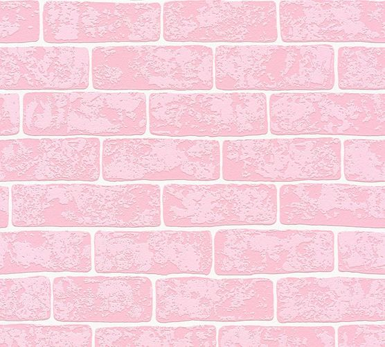 Kids Wallpaper 3D Stone Wall rose white Gloss 35981-2 online kaufen