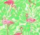 Kids Wallpaper Flamingos Leaves green pink Gloss 35980-2 001
