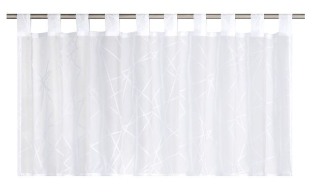 Half Curtain transparent Crossover graphic white 186708