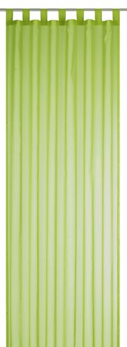 Loop Curtain transparent Feel Good Uni plain green 198275