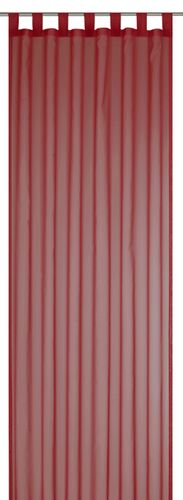 Loop Curtain transparent Feel Good Uni plain red 198282 online kaufen