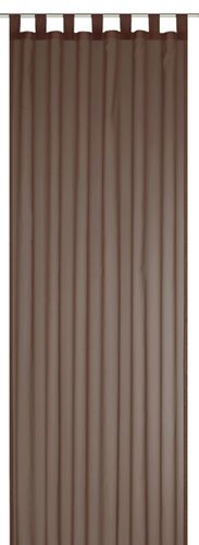 Loop Curtain transparent Feel Good Uni plain brown 198299 online kaufen