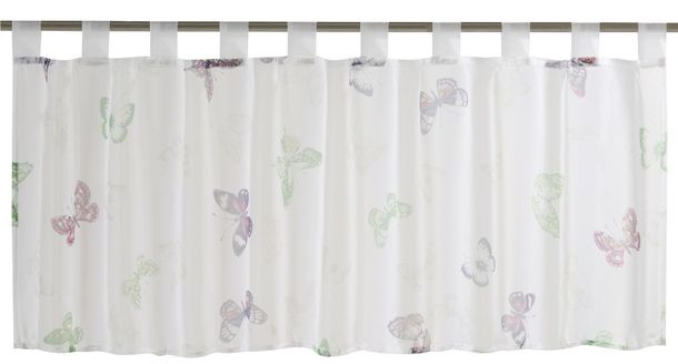Half Curtain transparent Farfalla floral colourful 198442 online kaufen