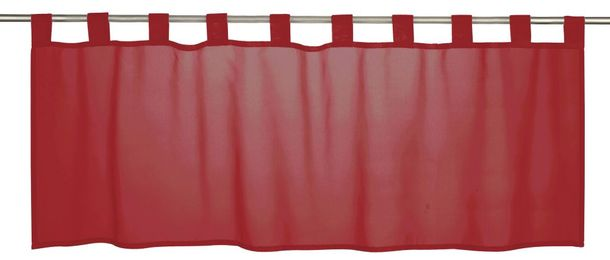 Half Curtain transparent Basic plain red 198459 online kaufen