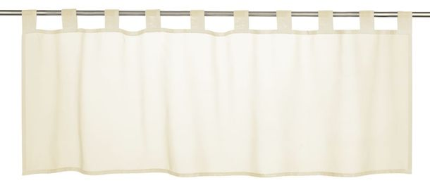 Half Curtain transparent Basic plain beige 198473 online kaufen