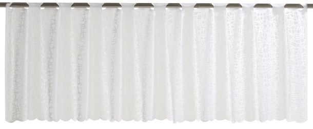 Half Curtain semi-transparent Membran textured white 198480 online kaufen