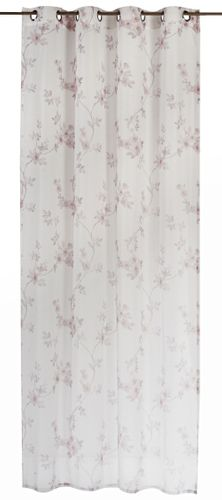 Eyelet Curtain semi-transparent Kyoto floral beige white 198565