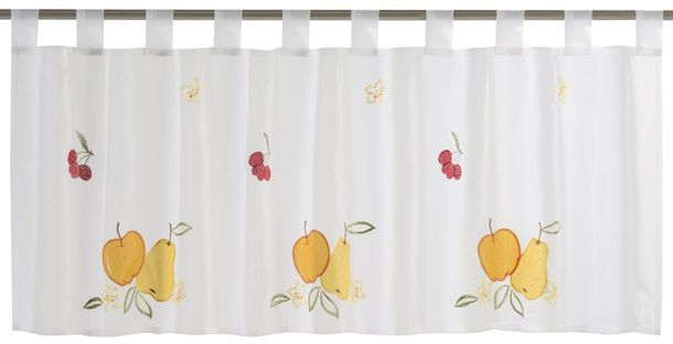 Half Curtain transparent Fresh Fruit floral white colourful 198657 online kaufen
