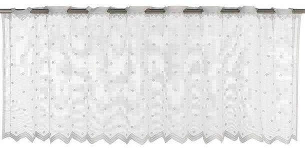 Half Curtain transparent Celeste graphic white 198763 online kaufen
