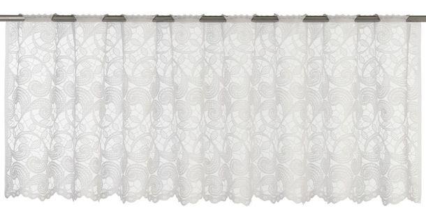 Half Curtain transparent Duchesse floral white 198770 online kaufen