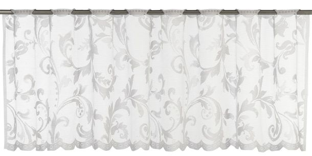 Half Curtain transparent Cosima ornament white 198794 online kaufen