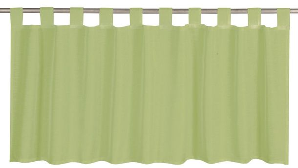 Half Curtain semi-transparent Effecto plain green 198824 online kaufen