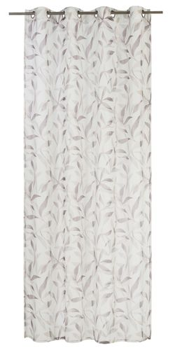 Eyelet Curtain semi-transparent Light floral brown 198909 online kaufen
