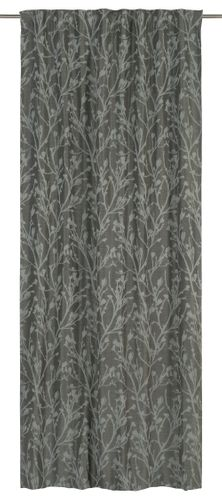 Loop Curtain blackout Secret Garden floral silver black 199531 online kaufen