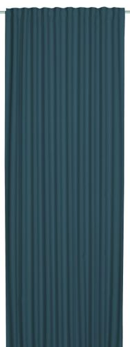 Loop Curtain blackout Midnight plain blue turquoise 199609 online kaufen