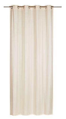 Eyelet Curtain non-transparent Miami plain beige 006352 online kaufen