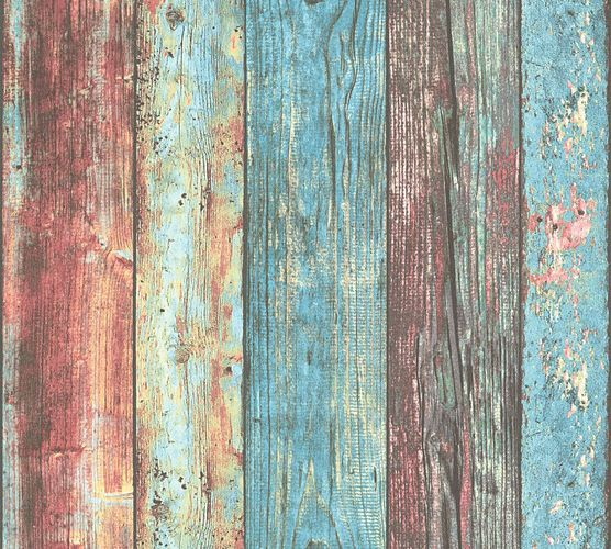 Wallpaper wooden style used turquoise AS Creation 30723-1 online kaufen