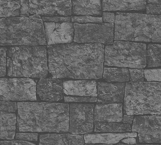 Wallpaper stone wall style anthracite AS Creation 31994-2 online kaufen