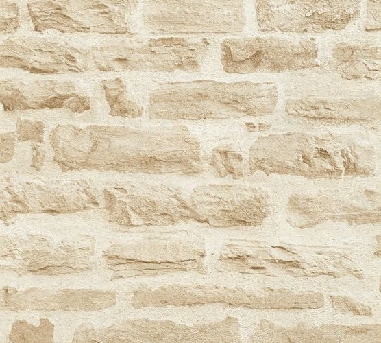 Wallpaper stone wall style cream AS Creation 35580-2 online kaufen
