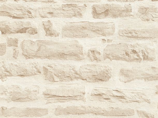 Wallpaper stone wall style cream white AS Creation 35580-3 online kaufen