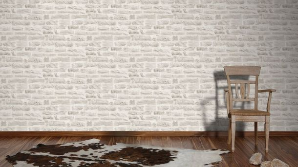 Wallpaper stone wall style cream AS Creation 35580-4 online kaufen