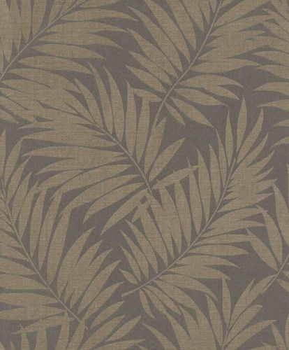 Wallpaper BARBARA Home Collection leaf anthracite gloss 527575 online kaufen