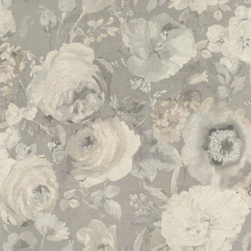 Wallpaper BARBARA Home flower aquarell grey cream 527841 online kaufen