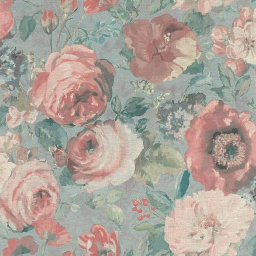 Wallpaper BARBARA Home flower aquarell blue 527858 online kaufen
