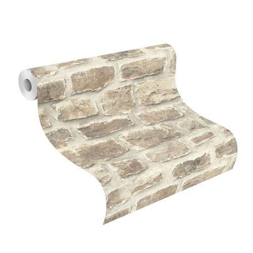tapete barbara becker b b stein optik beige grau 860610. Black Bedroom Furniture Sets. Home Design Ideas