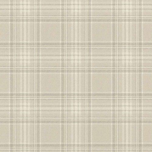 Wallpaper Barbara Becker bb scots square grey cream 861716